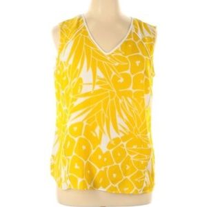 Worthington | Yellow Floral Blouse size L